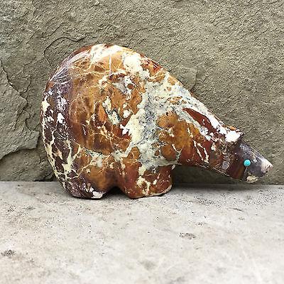 Zuni Fetish-Native American-Zuni Carving-Long Neck BEAR-Wild Horse Stone-Lunasee