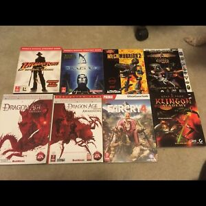 Video game strategy guides, dragon age, farcry, star trek, more