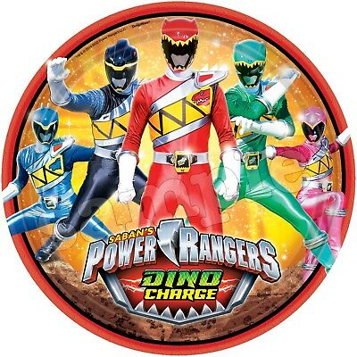 Power Rangers Dino Eßbar Tortenaufleger NEU Party Deko Tortenbild Geburtstag