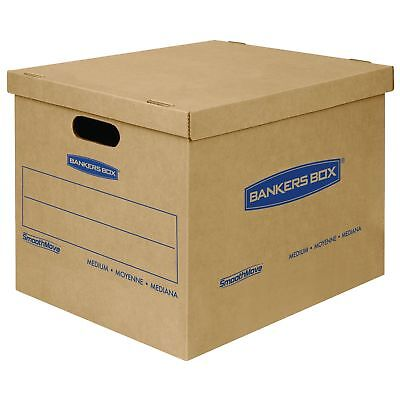 Bankers Box Smoothmove Classic Moving Boxes Tape-free Assembly Medium 18 X 15
