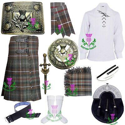 Herren Schottisch Kilt Kostüm Verwittert Mackenzie Verschiedene Brosche - Kilt Mädchen Kostüm