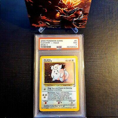 2000 pokemon base set 2 Clefairy holo psa graded 7 NM #19 / beckett Cgc ?