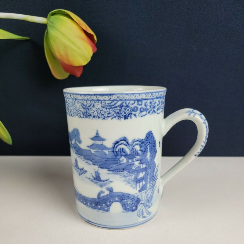 Blue Countryside Pagoda Mug