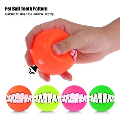 Indestructible Roller Ball Toy Teeth Pattern Roller Ball Magic Ball Dog Pet Toy