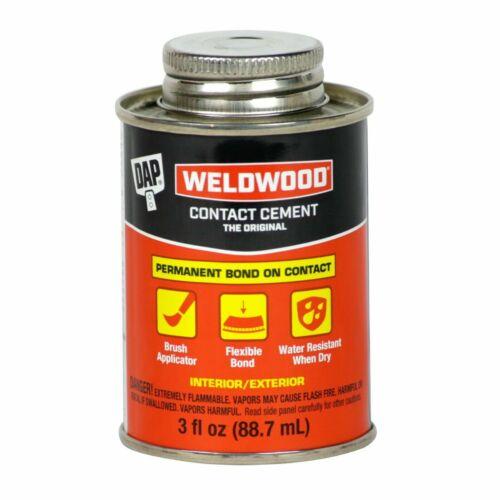 DAP Weldwood RUBBER CONTACT CEMENT High Strength Instant Bond  3 oz LM