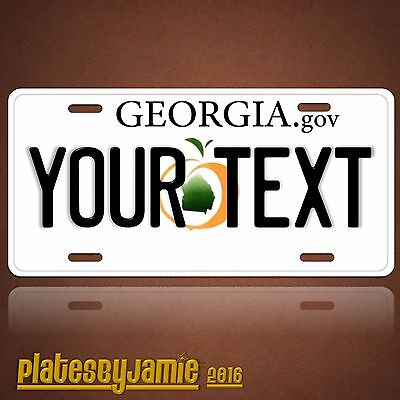 Georgia Peach State ANY TEXT Your Personalized Text Vanity License Plate Tag New