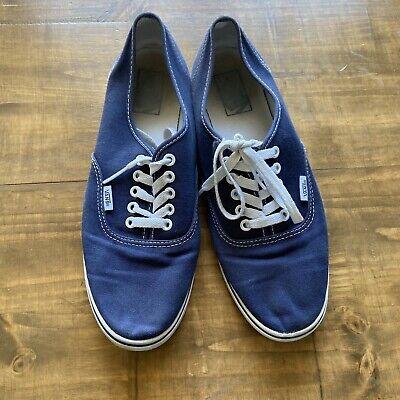 VANS Men's Classic Navy Blue Low Top Canvas Sneakers-Size 10-GUC