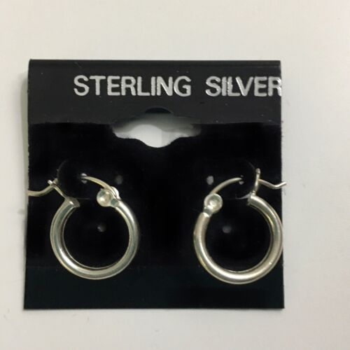 Vintage 13mm Sterling Silver Hinged Hoop Earrings