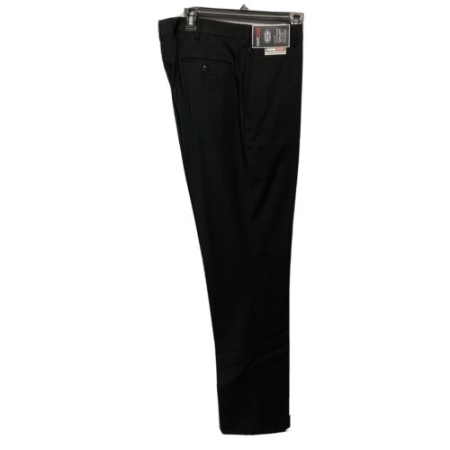 Roundtree & Yorke Travel Smart Classic Fit Flat Front Pants 48×32 Black Clothing, Shoes & Accessories