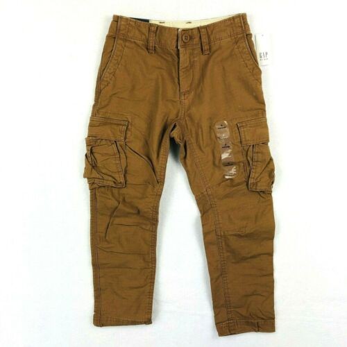 NEW Gap Kids Cargo Pants Light Brown Stretch 6 7 8 10 12 Comfort Boys Pockets