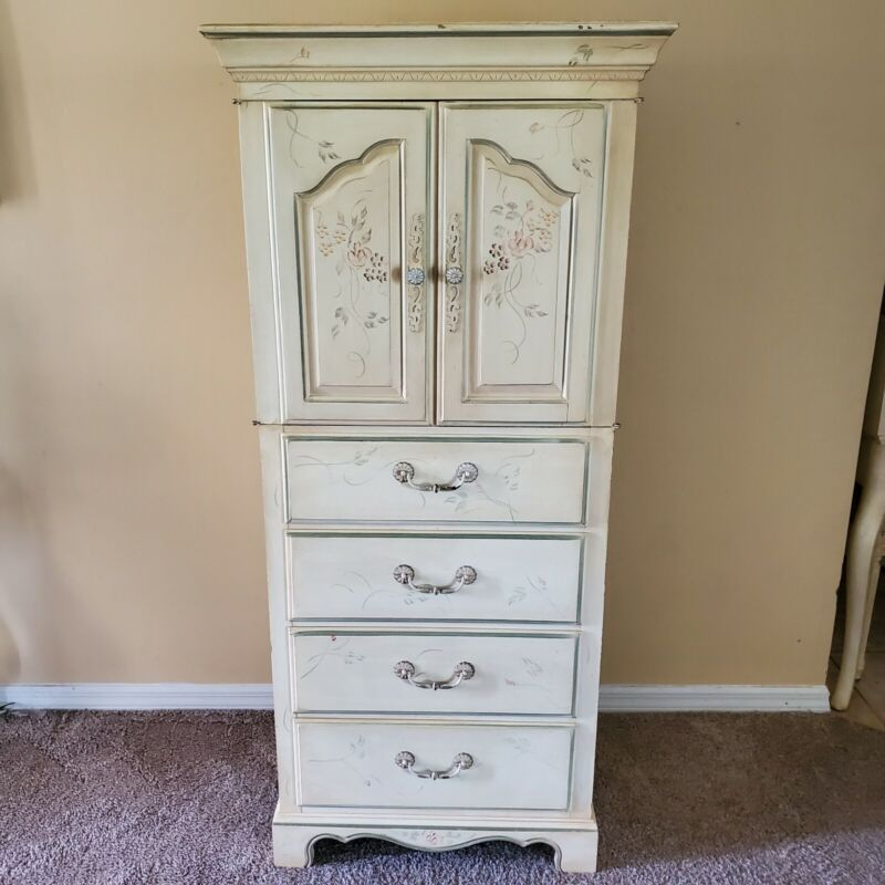 PRETTY  Ethan Allen Petite Door Chest Lingerie Cabinet French Country Floral