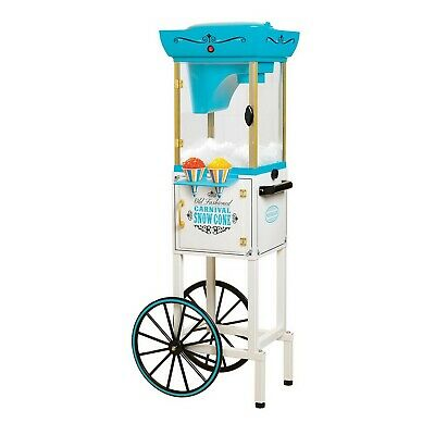 Sno Cone Maker Cart Shaved Ice Machine Electric 48 Tall Vintage Style