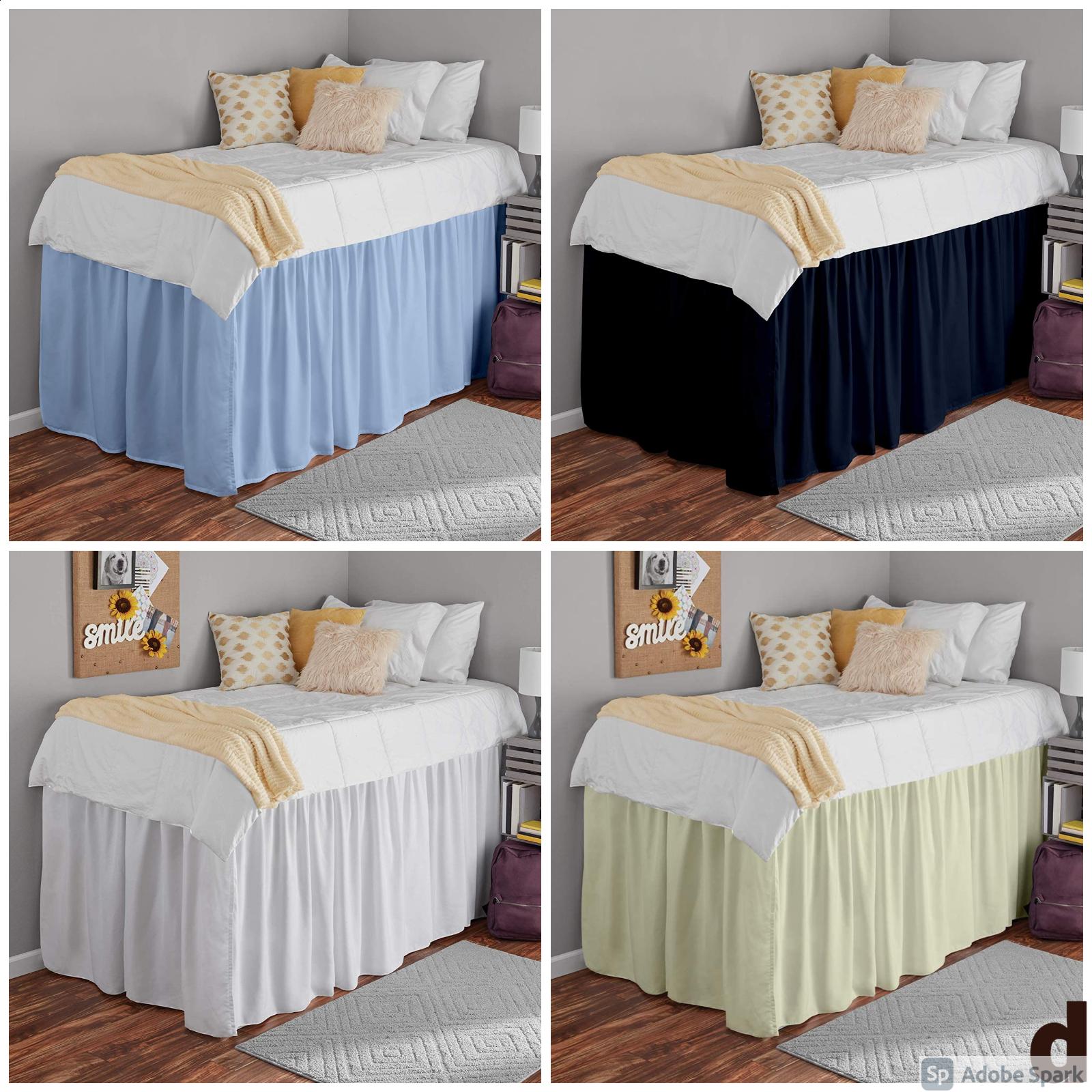 bed skirts dorm room ruffle dorm bedskirt