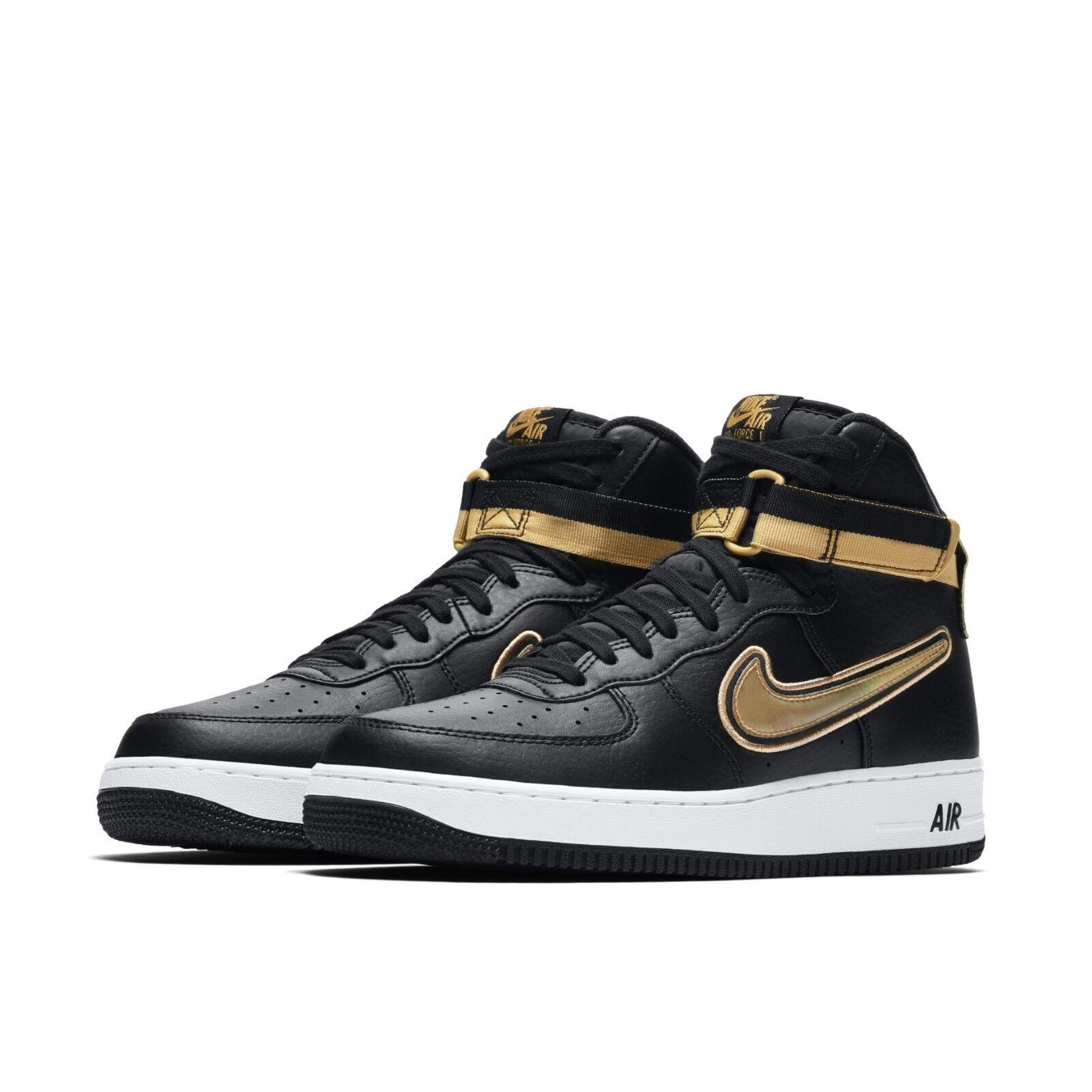 Details about Nike Mens Air Force 1 High 07 LV8 Sport AF1 NBA Black  Metallic Gold AV3938,001