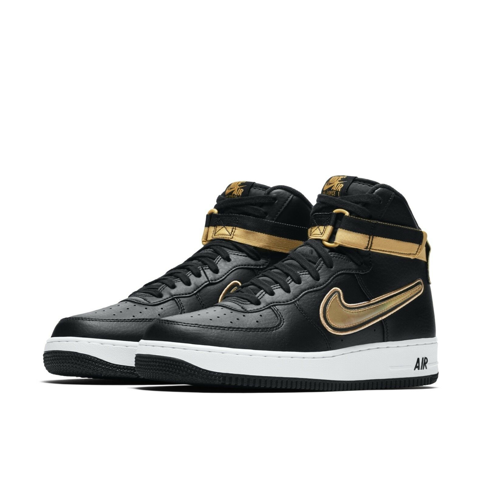 online retailer ae25a 61755 Nike Mens Air Force 1 High 07 LV8 Sport AF1 NBA Black Metallic Gold  AV3938-001