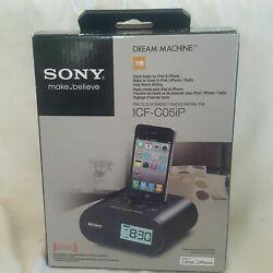 NEW Sony ICF-CO5IP Dream Machine Clock Radio Alarm  WITH iPhone/iPod Adapter
