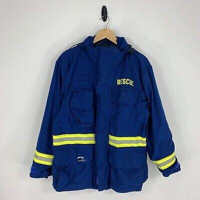 Mfg 2008 Morning Pride Size Large Blue Firefighter Turnout Jacket Coat Bunker