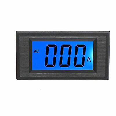 Us Stock Blue Lcd Digital Amp Current Panel Meter Ammeter Ac 100a Shunt