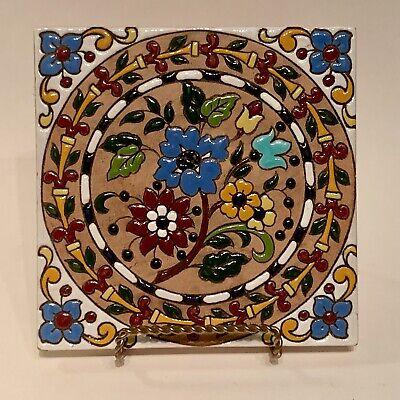 Antique Chinese Breezeway Tile Jade Temple Tile Vintage Decor Tiki Tile