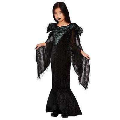 Kids Deluxe Raven Princess Costume Girls Maleficent Halloween - Halloween Kostüme Maleficent'