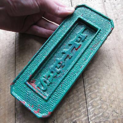 Antique Vertical Cast Iron Letter Box Plate / Door Mail Slot / Mailbox