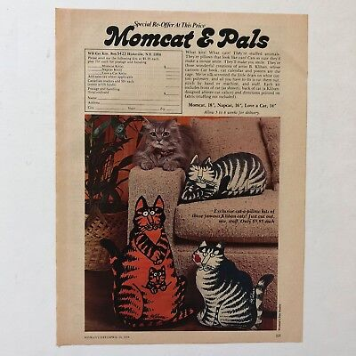 Vintage Kliban Cats Pillow Kit Order Form Vintage Photo Print Magazine Ad 1978