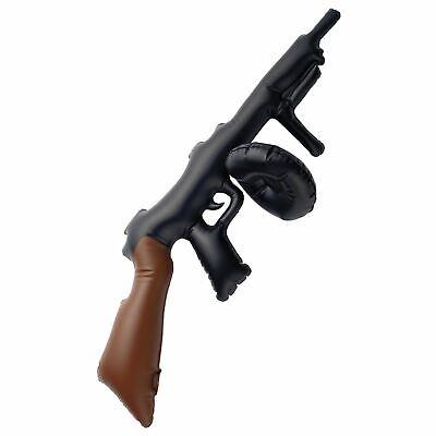 Aufblasbar Tommy Pistole Schwarz 75cm Play Requisit Buch - Aufblasbare Pistole