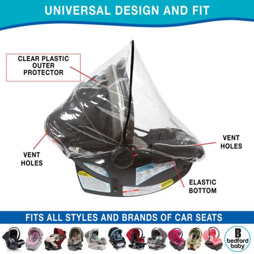 Car Seat Rain Cover & Doona Rain & Weather Sheild Plastic Cover