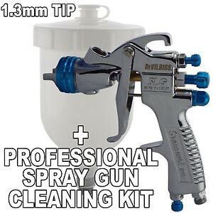 devilbiss slg 620 compliant solvent gravity spray gun gun cleaning kit ebay. Black Bedroom Furniture Sets. Home Design Ideas