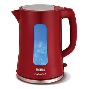 Morphy Richards 120002 Brita Filter Jug Kettle in Red - Brand NEW  2yrs Warranty