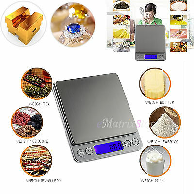 0.01-500g Electronic LCD Digital Gold Jewelry Food Kitchen Gram Weighing Scale