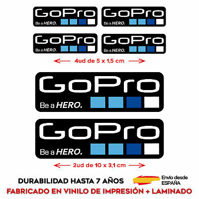 6 X VINILO ADHESIVO PEGATINA STICKER GOPRO GO PRO CAMARA RACING RALLY...