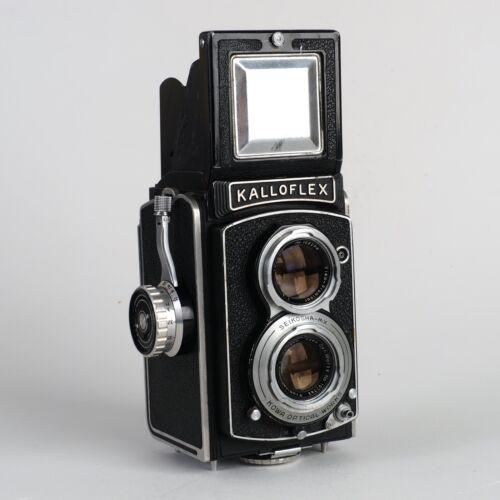 ^Kalloflex Medium Format TLR Kowa Optica Works 75mm 3.5 Camera winds and fires
