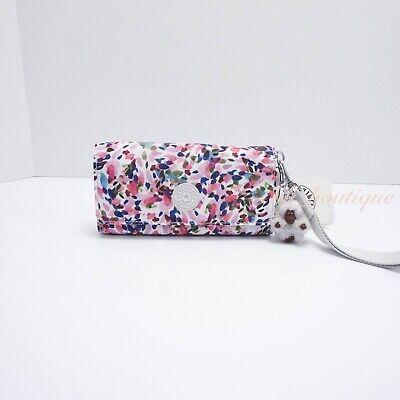 NWT Kipling AC8152 RUBI Snap Long Wallet Wristlet Nylon Lucky Leaves Multi $47