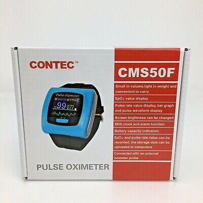 Contec Cms50f Wrist Pulse Oximeter Oled Usb Pc Software Alarm New