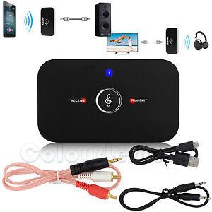 2 in1 HIFI Wireless Bluetooth Audio Transmitter Receiver 3.5mm RCA Music Adapter