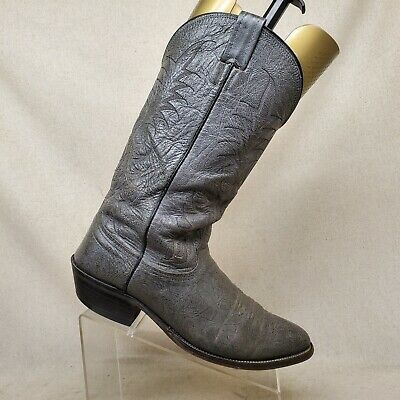 NOCONA Gray All Leather Bullhide Cowboy Western Boots Mens Size 10.5 E Style 403