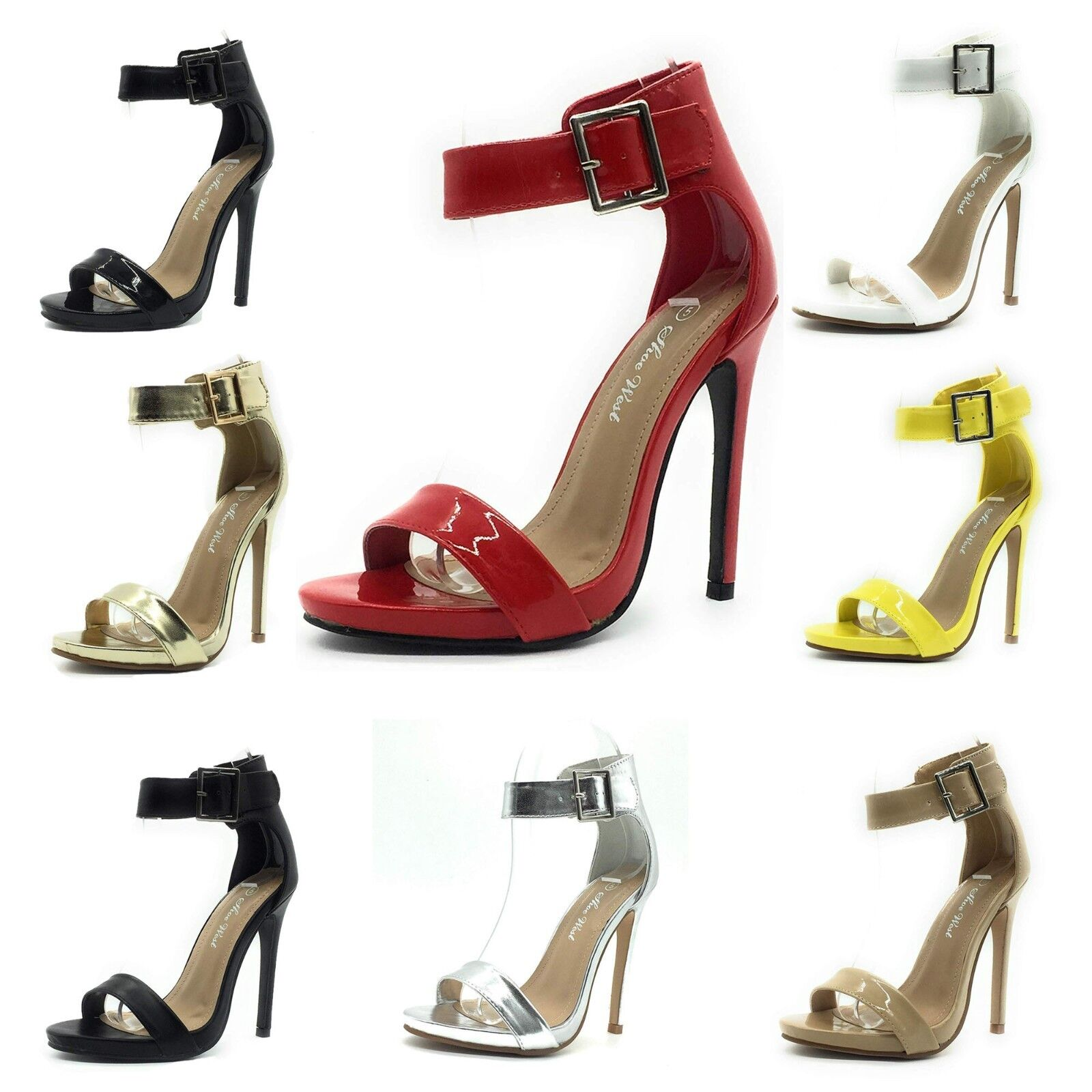 New Sexy Open Toe Pump Women's Shoes Cross Strap Ankle Strap