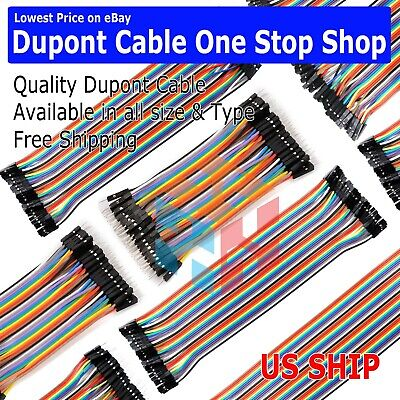 Dupont Cable Jumper Wire 10 20 30 40 Cm F-m F-f M-m For Breadboard Arduino Usa
