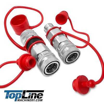 Tl106 Flat Face To Ag Style Hydraulic Quick Connect Coupler Adapter Set