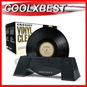 CROSLEY VINYL LP RECORD CLEANER CLEANING SYSTEM 33 45 78RPM ALL IN ONE
