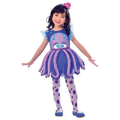 Sea Creature Costumes (Girls Underwater Sea Creature Mermaid Octopus Fancy Dress Costume Squid)