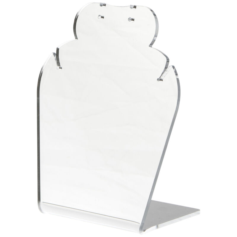 """Plymor Acrylic Necklace/Earring Combo Stand (Mirrored), 4.625"""" W x 3"""" D x 5.25""""H"""