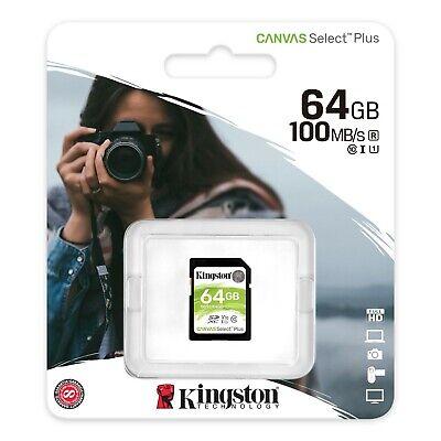 64GB SD Kingston Ultra Memory Card For Canon Powershot D20 & D30...