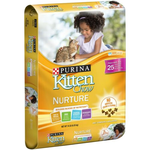 Purina Cat Chow Kitten Chow Nurture Formula Cat Food, 14 LB - FREE SHIPPING