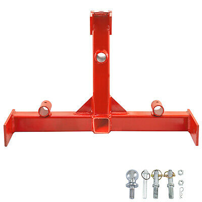 3 Point 2 Receiver Trailer Hitch Category 1 Steel Standard Powder Coated