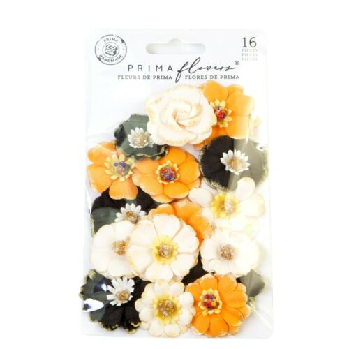 Prima HALLOWEEN Flowers SPECIAL EDITION Paper Embellishments 16 pcs #650292