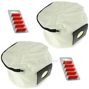 2 x Zip Up Reusable Vacuum Hoover Bag + Fresheners For Numatic Henry Hetty James