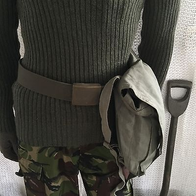 vintage swedish gas mask bag webbing army surplus mod miliaryhunting shooting
