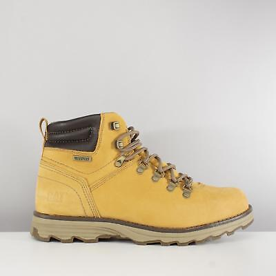 CAT Lifestyle SIRE Mens Nubuck Leather Lace Up Waterproof Work Ankle Boots Honey